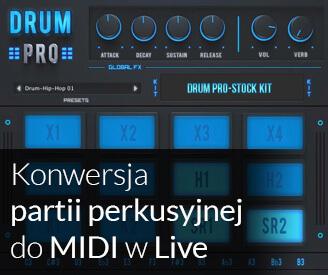 Konwersja perkusji - audio do MIDI (Live)